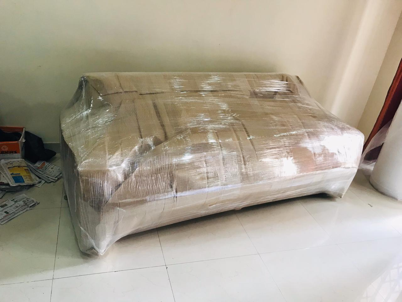 3 Setter Sofa Packed With FoamSheet, Air Bubble Brown Sheet, Lamination, Tape